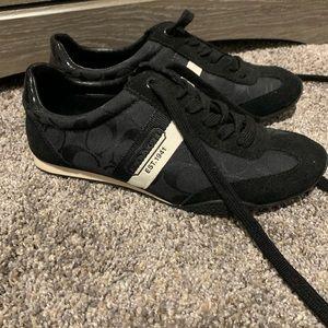 Black Monogram a Coach Shoes